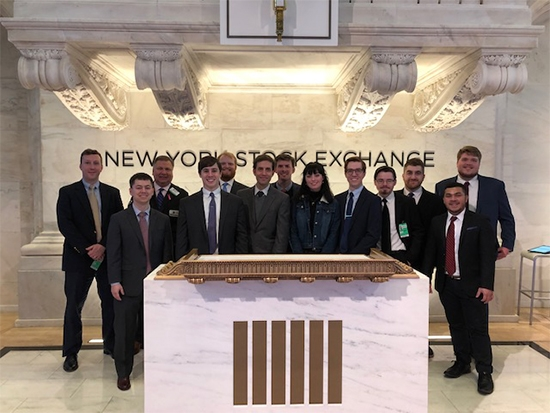 Finance students present Green and Gold Fund successes in the Big Apple