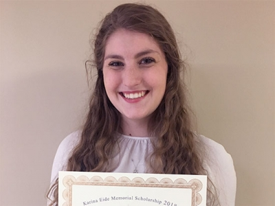 Student with dyslexia perseveres, receives prestigious scholarship