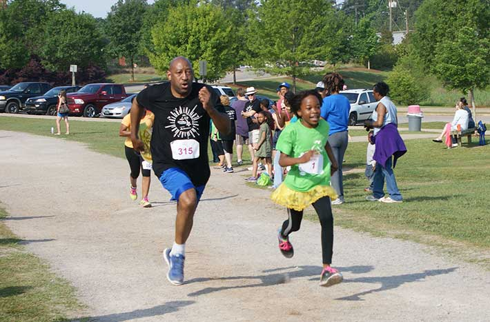 Each spring, Girls on the Run teams come together for a 5K race.