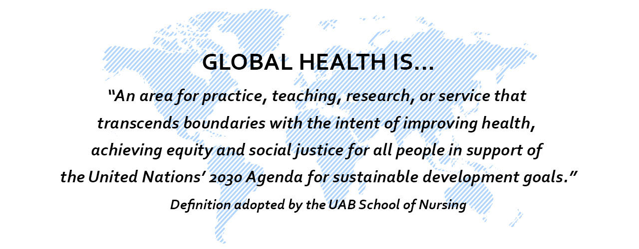 Global health is
