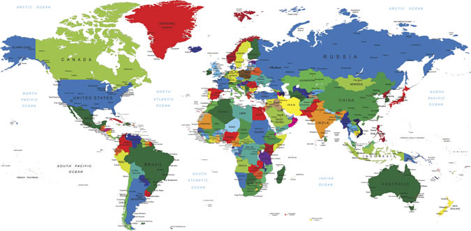 Photo:world map