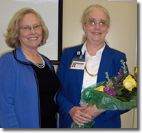Dr. Harper Recognizes Dr. Pryor for Faculty Organization Service