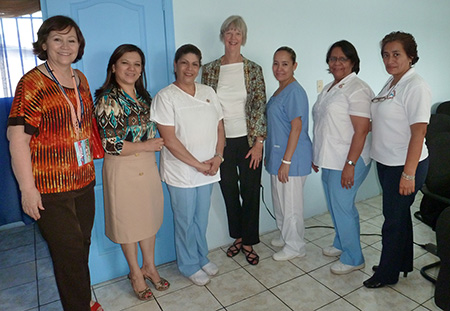2013 Lynda Wilson and members of the Colegio de Enfermeria in Honduras September 5 2013