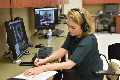 Photo: Telehealth clinic in action