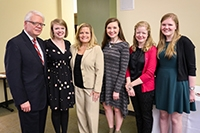 Nancy Harris Smith Endowed Memorial Support Fund for Nursing Excellence recipients recognized