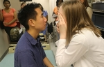 NP students learn eye exam skills through interprofessional partnership with UAB School of Optometry