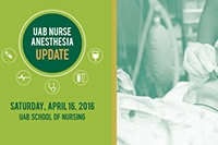 UAB Nurse Anesthesia Update set for April 16