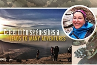 Nurse Anesthesia alumna's career takes her to Saudi Arabia and the summit of Mount Kilimanjaro
