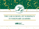 School of Nursing names 70 Visionary Leaders