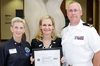 ESGR honors McMullan for commitment to students meeting military requirements