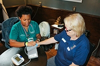 UAB School of Nursing students, faculty help those in need at health fair