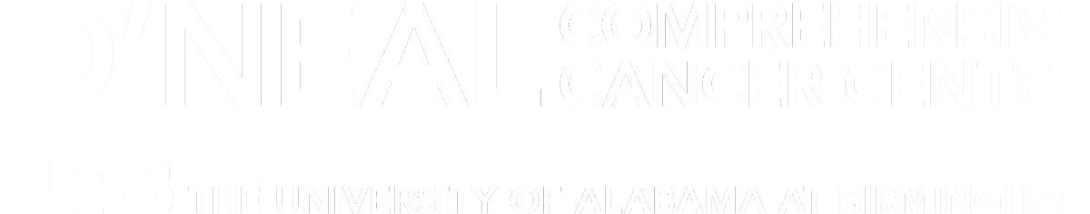 O'Neal cancer center logo with University of Alabama at Birmingham below the logo.