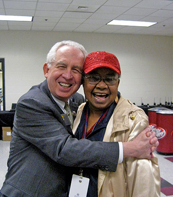 Former SEC Commissioner Mike Slive and Lillie Conway