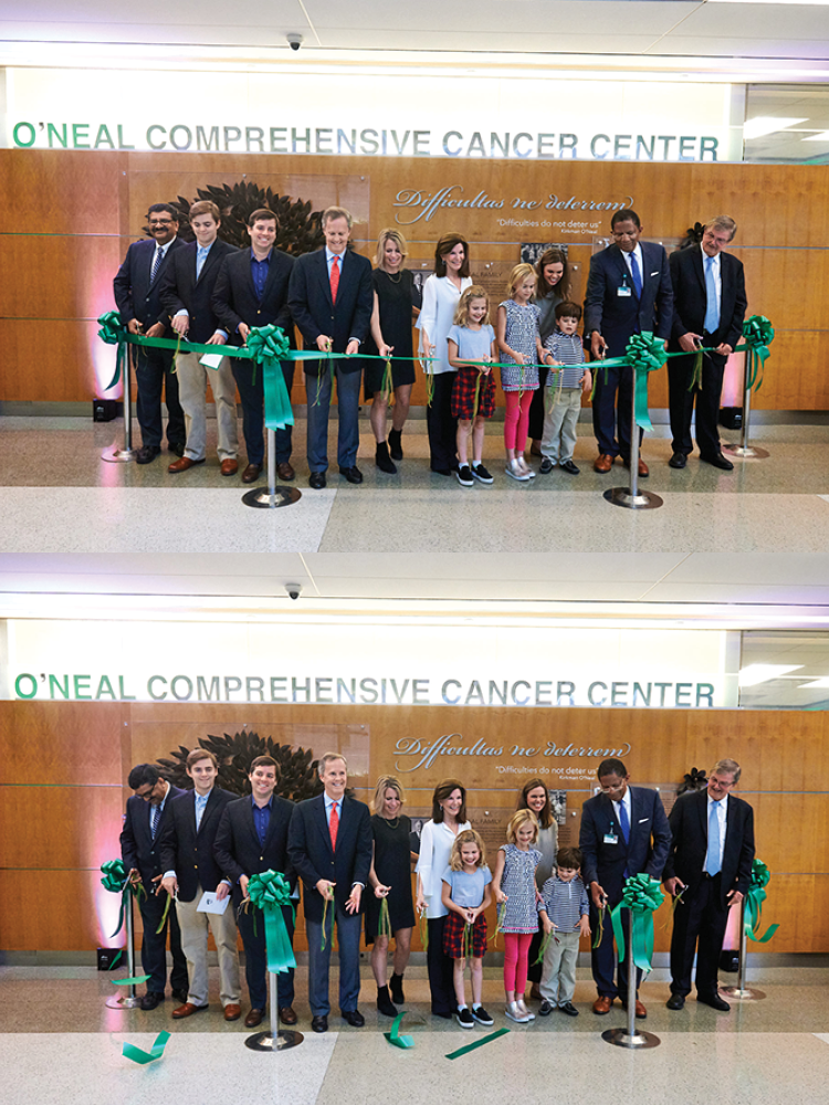 Ribbon cutting before and after