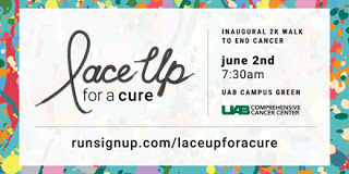 """Lace Up for a Cure"" promotional information."