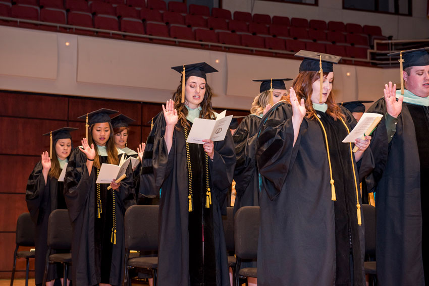 Optometry class of 2017 at their Convocation and Hooding Ceremony