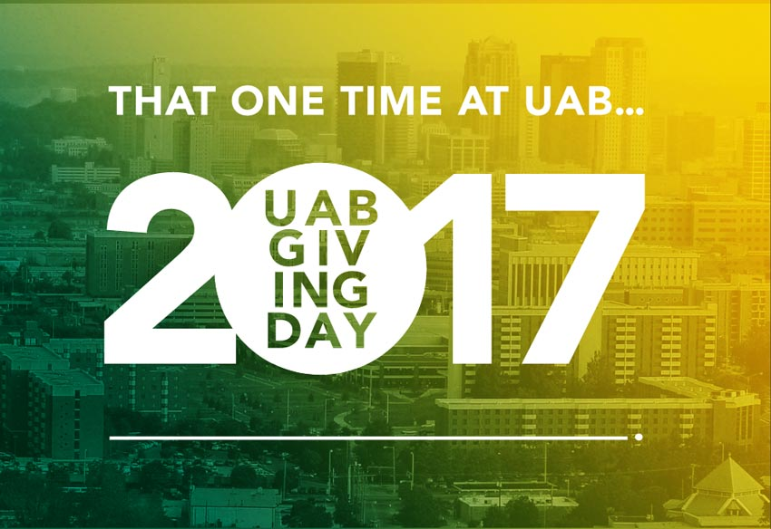 UAB Giving Day graphic for 2017