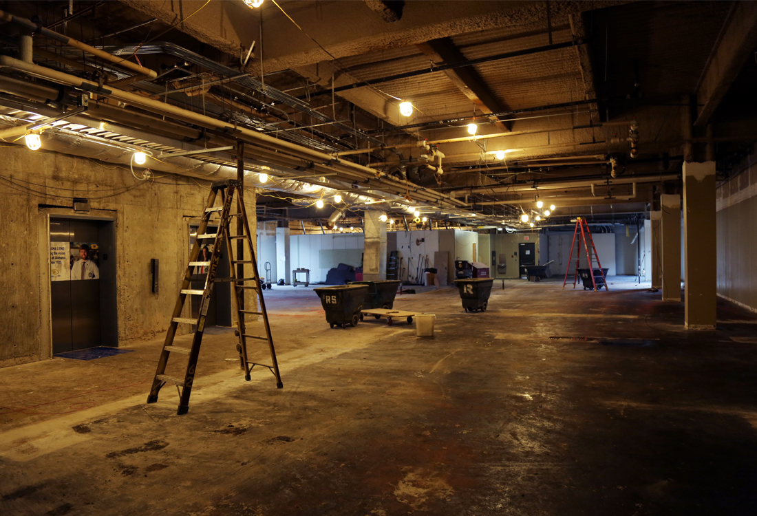 Third-floor renovations of the Henry Peters Building began in December.