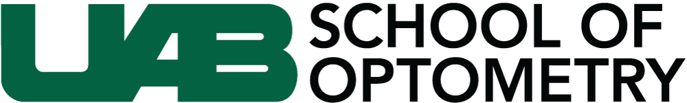 UAB School of Optometry logo.