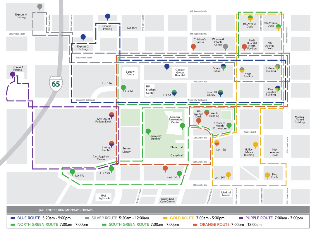 Blazer Express map 12.16 New Routes