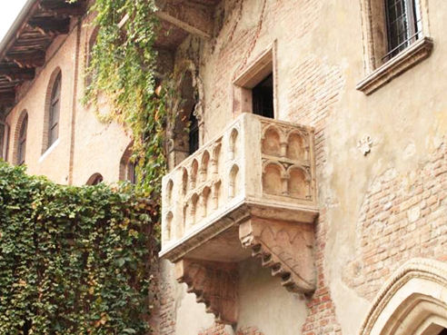 Juliet Balcony Verona inside