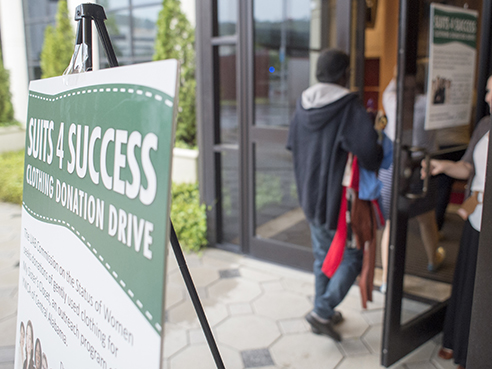 donor drop off at UAB's Suits for Success
