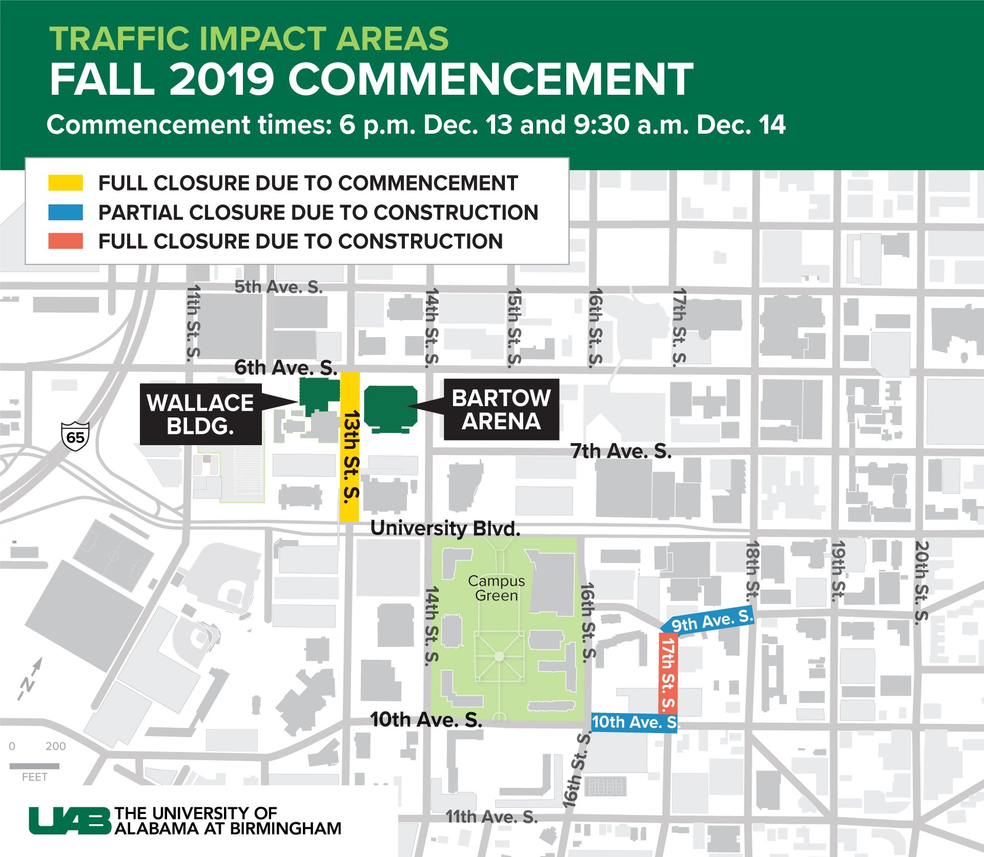 2019 Commencement Traffic Map
