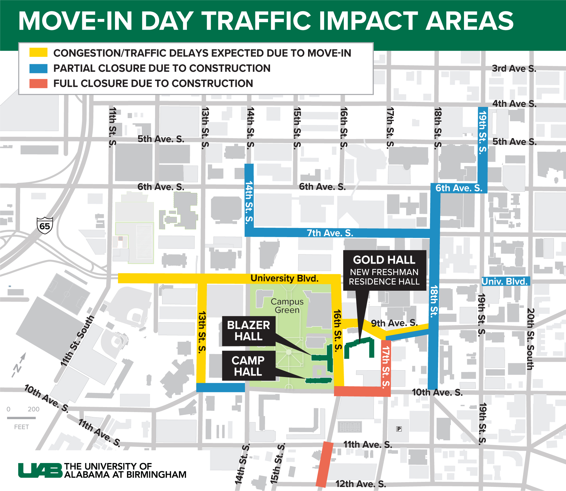 2020 Move In Day Traffic map FINAL