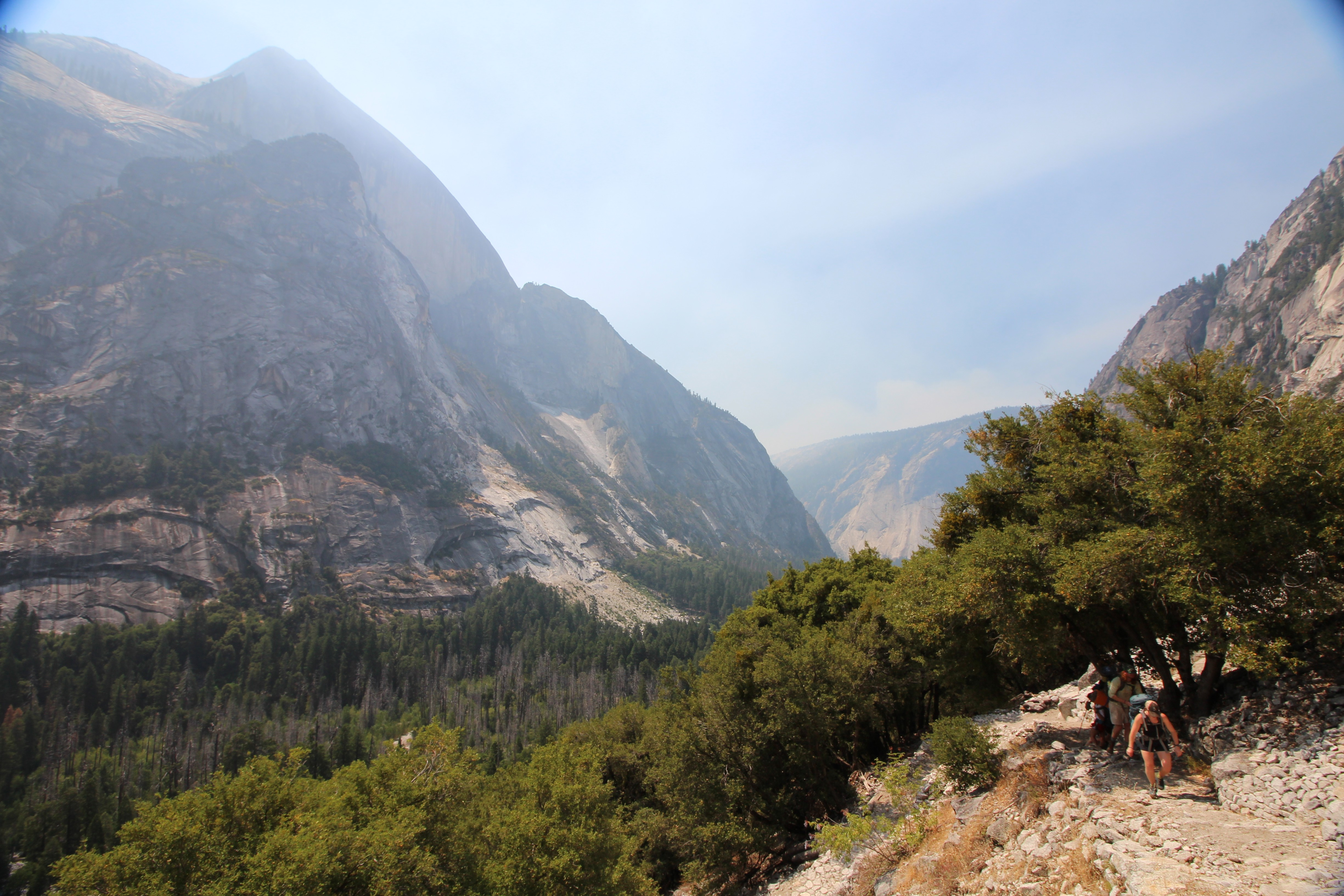 Hiking Out Of The Yosemite Valley Up Snow Creek Falls Trail