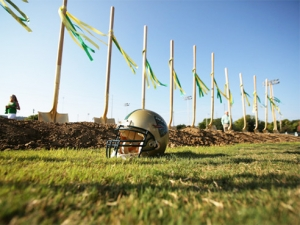 Blazers break ground on new football facilities