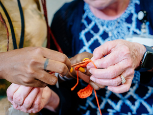 A slipstitch in time brings joy, comfort to families in the RNICU