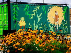 Solar House mural highlights campus commitment to sustainability