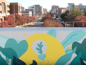 New mural adds color to the campus landscape