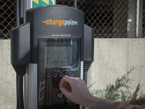 3 electric car-charging stations now open on campus