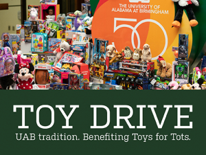 Spread holiday cheer: Donate to UAB Toy Drive through Dec. 5