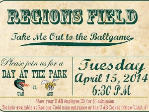 Exchange Faculty & Staff Night tickets for any UAB Baseball game