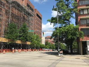 Construction to close sidewalks, traffic lanes