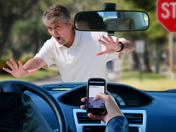 Don't let distractions drive you off the road