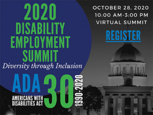 Attend a virtual summit on disability employment Oct. 28