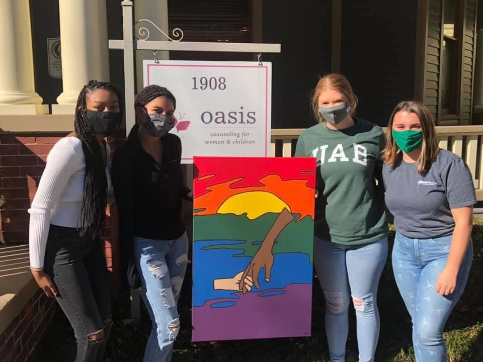Oasis Counseling students