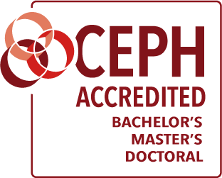 CEPH Accreditation Badge: Bachelor's, Master's, Doctoral.