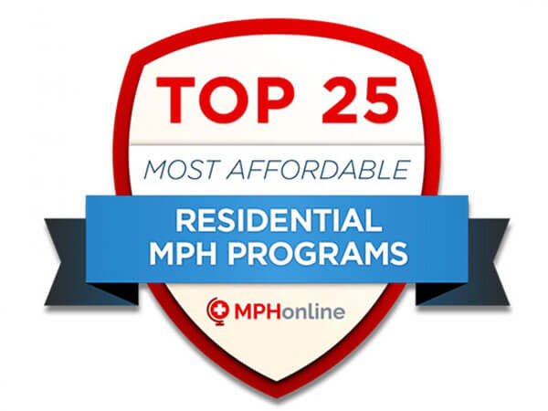 Ranked Number 5 out of 25 Most Affordable Campus MPH Programs for 2019 by MPHonline