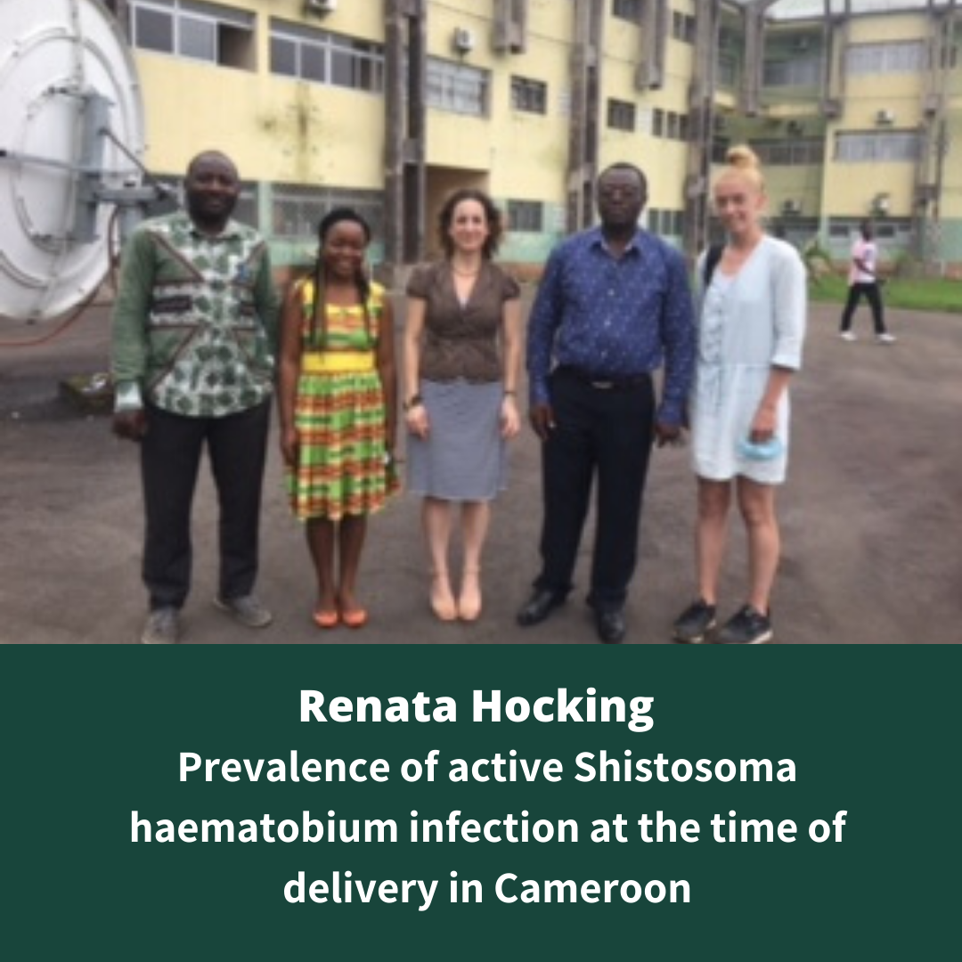 Renata Hocking | Prevalence of active Schistosoma haematobium infection at the time of delivery in Cameroon