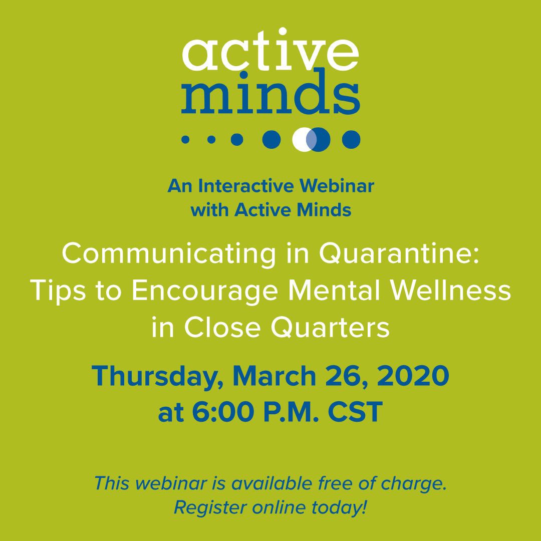 ActiveMinds CovidWebinar Thurs