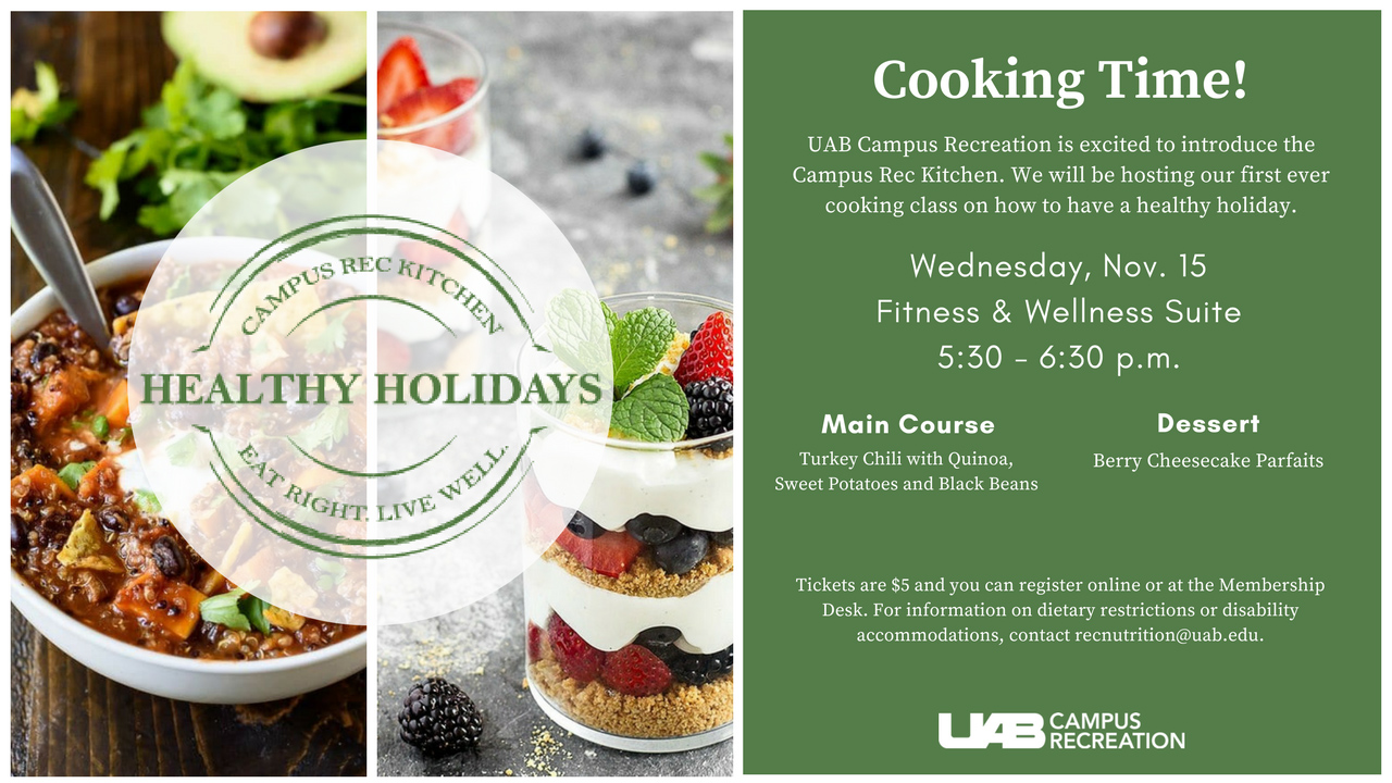 It's cooking time with UAB Campus Rec!
