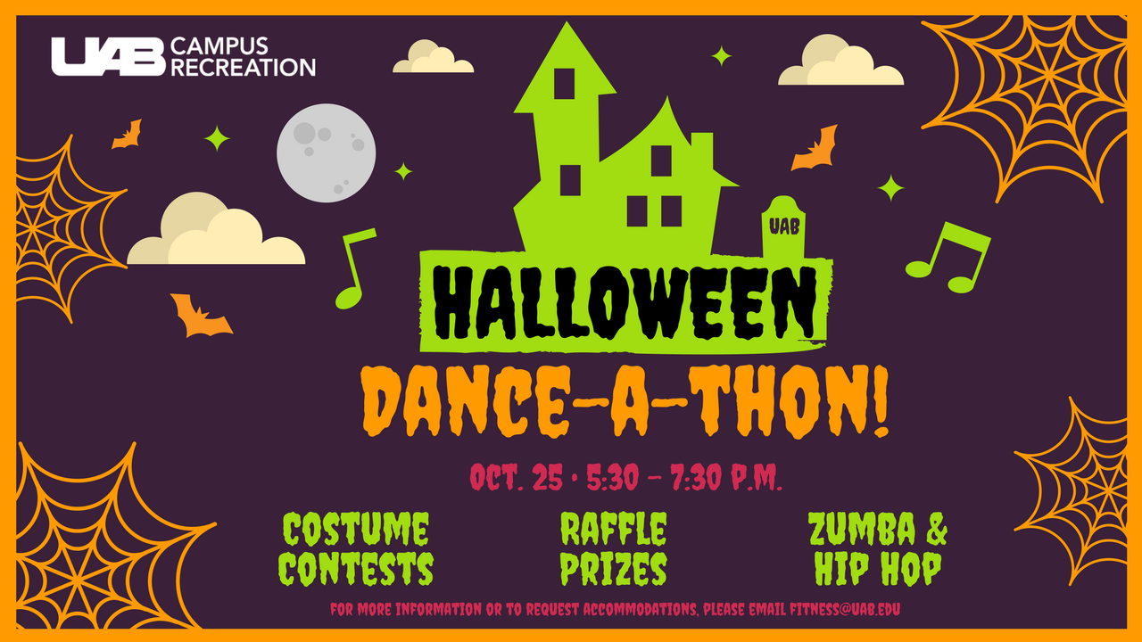 Campus Rec is getting into the fall spirit with their Halloween Dance-a-thon