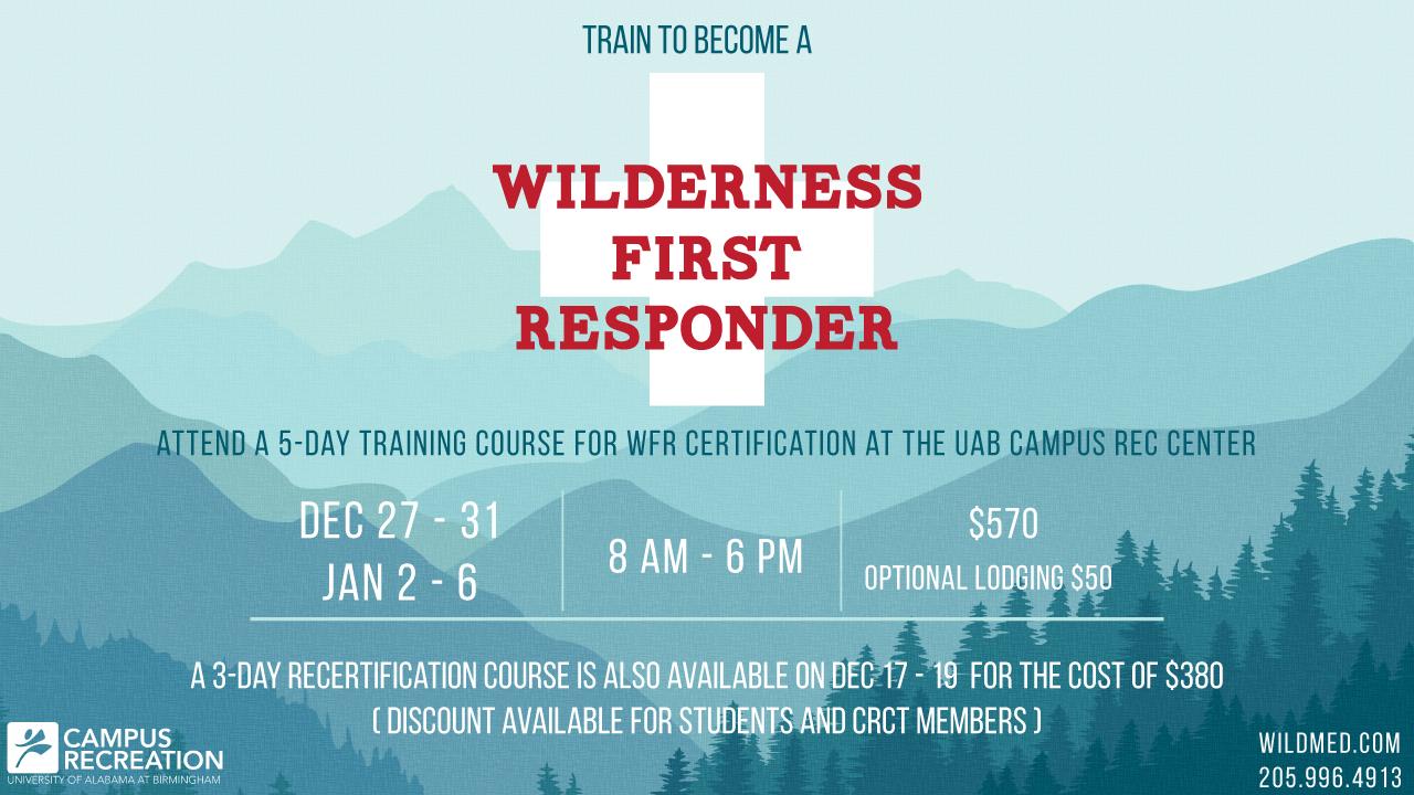 Uab Student Affairs News Wilderness First Responder