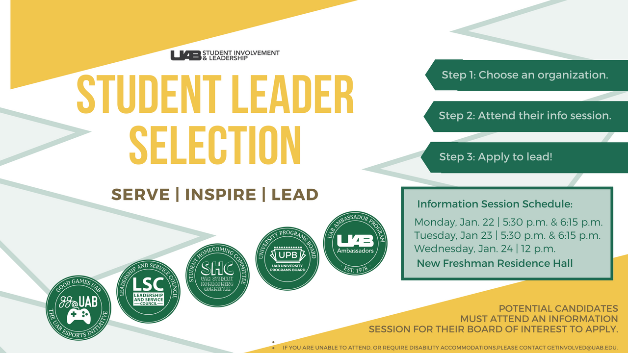 2018 Student Leader Selection