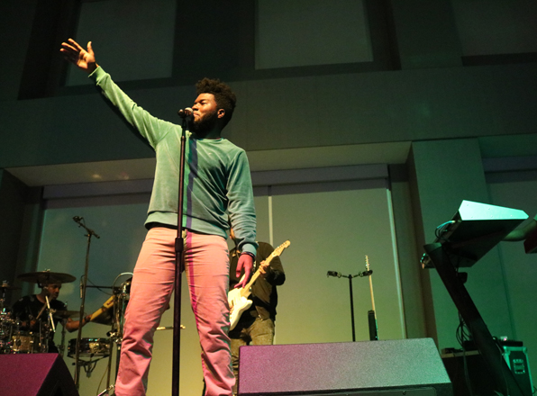 National Recording Artist Khalid closed out UAB Spring Semester with mini-concert at HSC