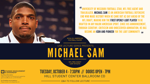UAB Lecture Series presents Michael Sam